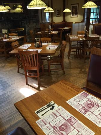 Boucher's Wood River Inn: Two cozy dining rooms with a large fireplace!