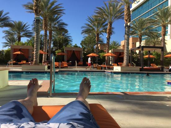Lounging by the pool march 2015 picture of aliante for Pool spa show vegas 2015