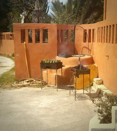 B&B Villa Ermes : Fresh carciofi on the bbq!