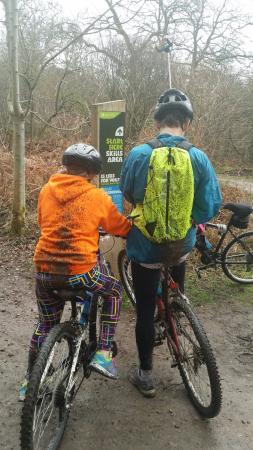 Cannop Cycle Centre: Just a bit muddy in the forest of dean