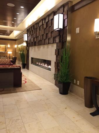 Northern Hotel : Lobby fireplace.