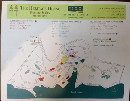 Hotel map Picture of Heritage House Resort & Spa Little River