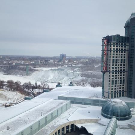 Hilton Niagara Falls Fallsview Hotel Suites American Side Of The Frozen