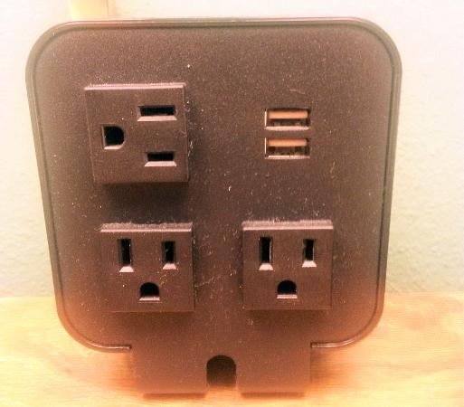 The Lodge: USB Ports and charging station