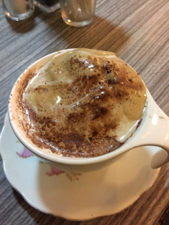 Woeser Bakery: Divine handmade cappuccino .... Must have!!!!