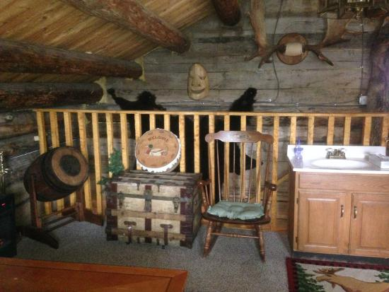 "Le Barn Appetit Inn & Creperie: ""Jack London's Cabin"" 2nd floor sleeping area"