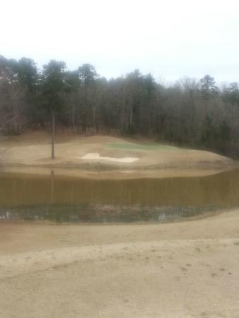 Grand National Golf Course: Typical Par 3 Winter Conditions