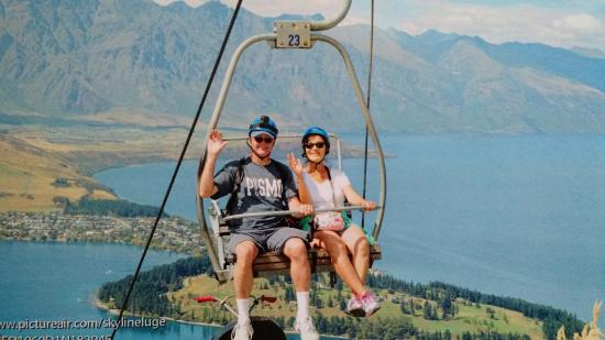 Skyline Queenstown Riding The Chairlift Up To Luge