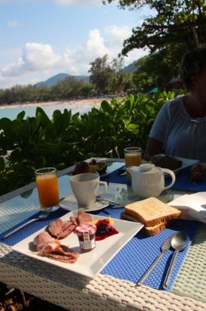The Boathouse Phuket: breakfast with view