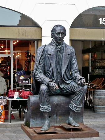 Hans Christian Andersen on Bench