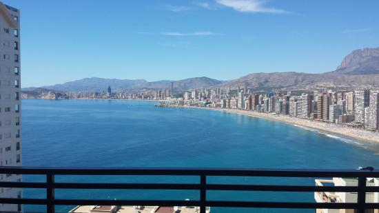 Trinisol 2 Apartments: A view of the Med and the Benidorm beach.