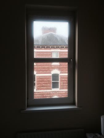 Titanic Apartments: No blind at the bedroom window