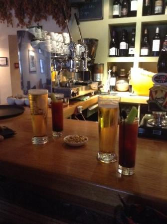 The Swan Inn Chiddingfold: The delicious Bloody Mary.
