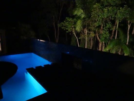 The Villas of Byron: Pool at night