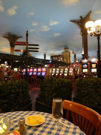View from our table over the casino