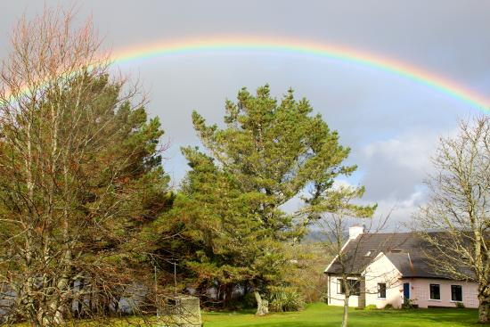 Blairscove House & Restaurant : Rainbow over The Cottage