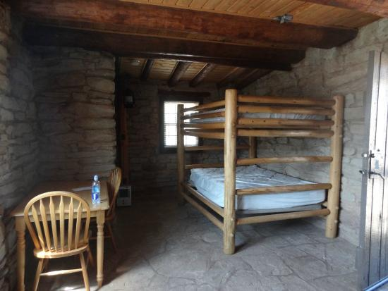 Palo Duro Canyon State Park Inside Cow Cabin Double Bunk Bed
