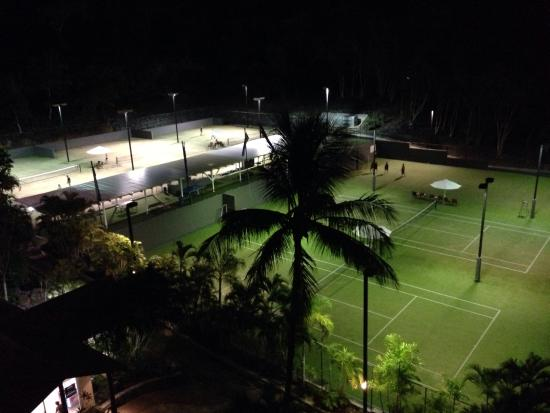 Tennis Court view at the back balcony - Picture of Reef View