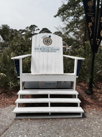 Village Of Baytowne Wharf: Large Beach Chair.