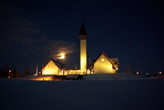 Snorrastofa: Reykholt by night in wintertime