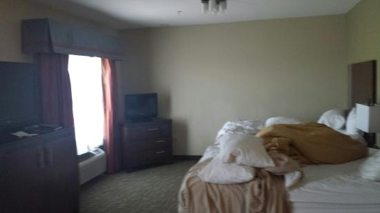 Comfort Suites Roswell: Spacious room, limited counter space.