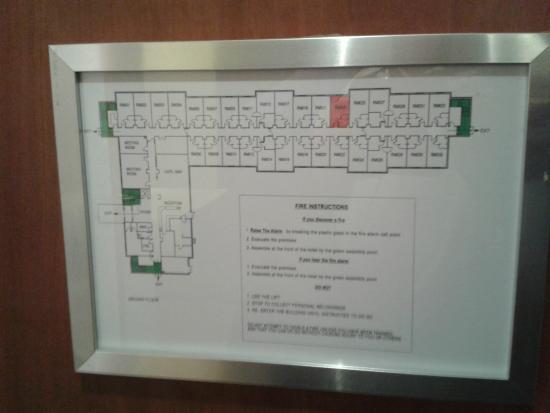 Holiday Inn Express Braintree: Fire board