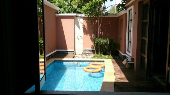 View from the balcony overlooking other units picture of for Garden pool villa grand lexis pd