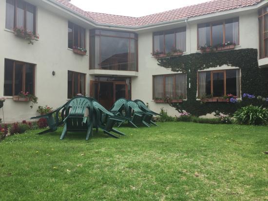 Hotel Rincon Aleman: Vista al entrar
