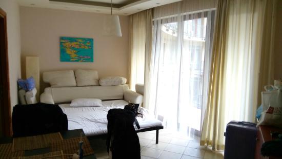 Soggiorno con divano letto - Foto di Town Hall Apartments, Budapest ...