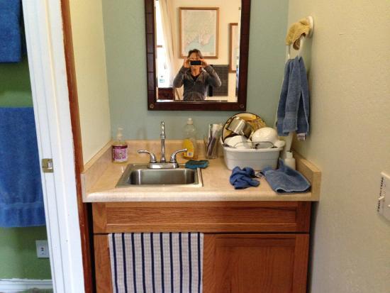 Bear Valley Inn: Bathroom/Kitchen sink in cottage