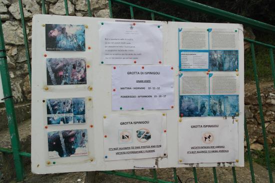 Grotta di Ispinigoli: Fotografieren verboten