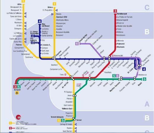 mappa Picture of Metro de Valencia El Valencia TripAdvisor