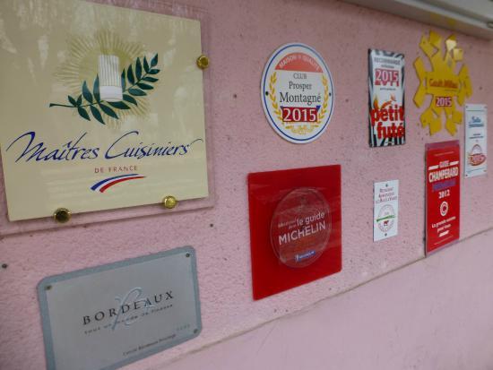 Restaurant Auberge les Tilleuls : Auberge Les Tilleuls: les récompenses
