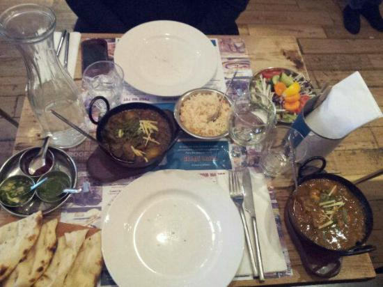 Delhi Grill: Railway Lamb Curry with Pilau rice and Seafood Curry
