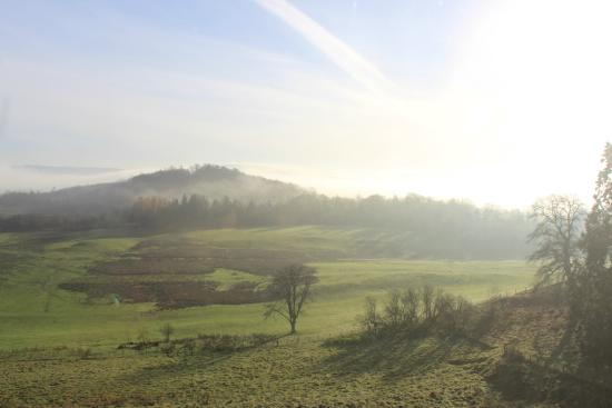 Gartmore House: early morning view from the room
