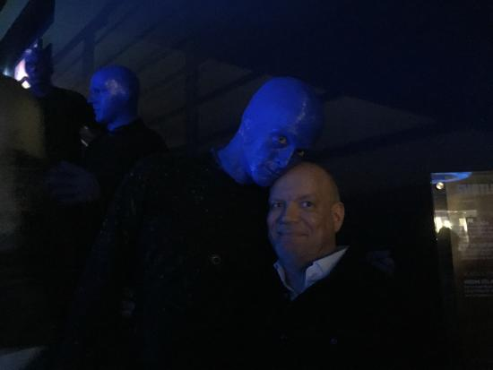 Blue Man Group : One of the Three Blue Men and me :-)