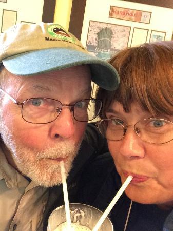 Hawaiian Vanilla Company : Me and my sweetie sharing a shake