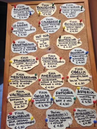 Piadineria da Obelix: Alcune piadine