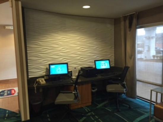 SpringHill Suites Detroit Southfield: Business Center
