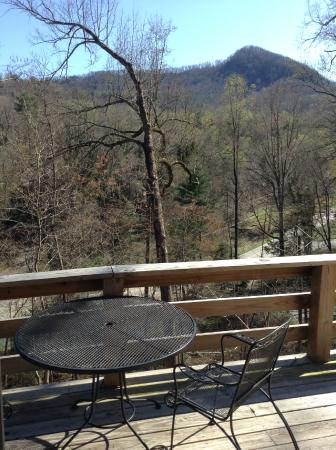 Grafton Lodge: Chestnut Cabin Deck