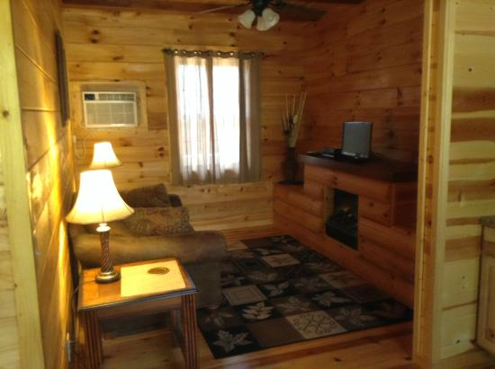 Grafton Lodge: Chestnut Cabin Living Room