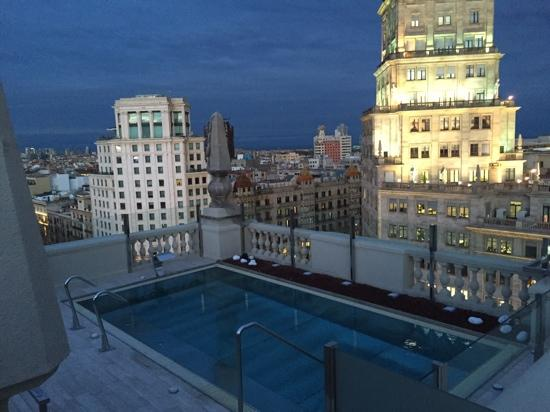 view from roof picture of hotel el avenida palace. Black Bedroom Furniture Sets. Home Design Ideas