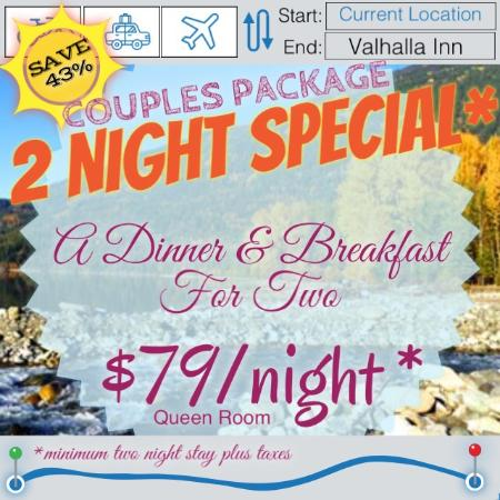 The Valhalla Inn: Special Deal for Couples until April 30, 2015