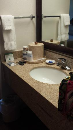 Best Western Plus Cypress Creek: The sink is part of the room, not the bathroom.