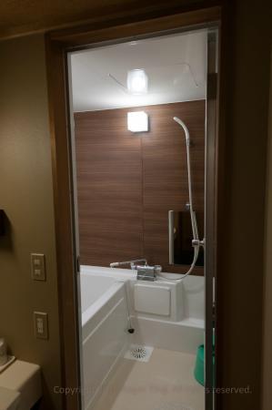 Shower/bath. Bath tub is Japanese dimensions. - Picture of Watazen ...