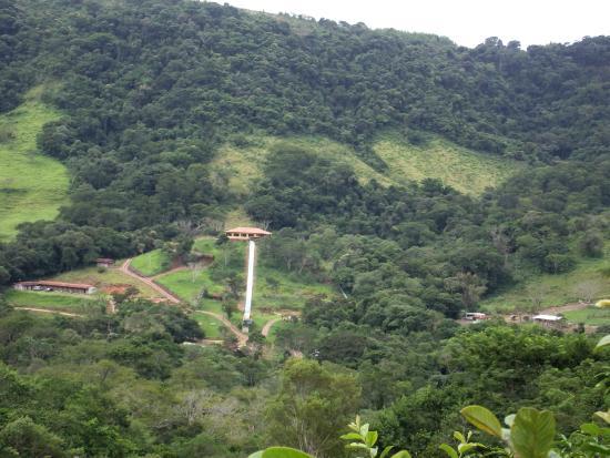Hotel Fazenda Luar de Agôsto: O toboágua vista do alto