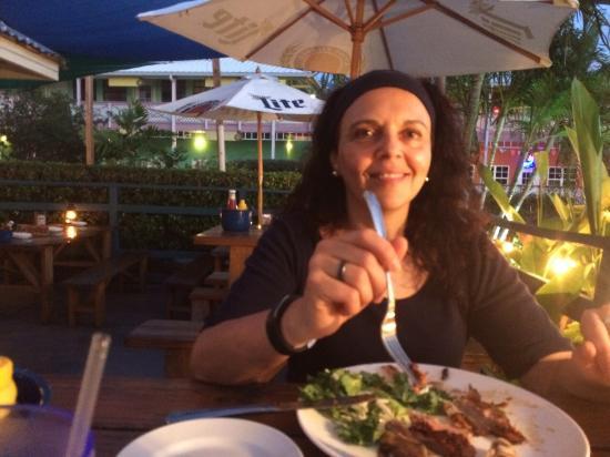 Duke's Seafood and Rib Shack : Myself enjoying a great meal
