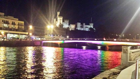 Premier Inn Inverness Centre River Ness Hotel Night Time View Outside