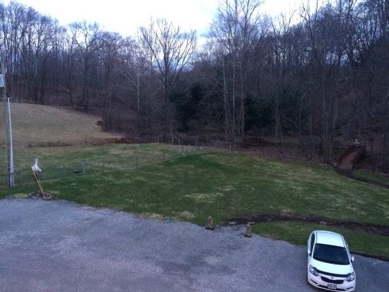 The Barn Inn Bed and Breakfast: Off the back deck