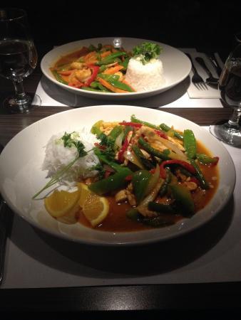 Chicken Khmer and Thai Shrimp